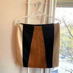 Zara - suede mini skirt